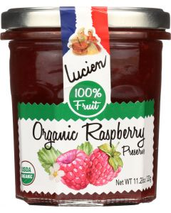 LUCIEN GEORGELIN: Spread Fruit Raspberry Organic, 320 gm
