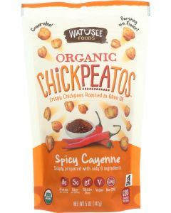 WATUSEE FOODS: Organic Chickpeas Spicy Cayenne, 5 oz