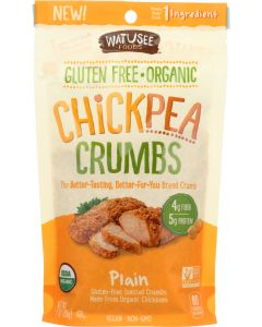 WATUSEE FOODS: Organic Chickpea Breadcrumbs Plain, 7 oz