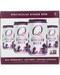 Q TONIC: Ginger Beer 4 Pack, 30 fo