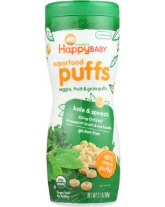 HAPPY BABY: Puff Kale & Spinach Organic, 2.1 oz