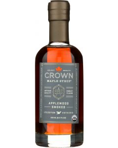 CROWN MAPLE: Syrup Maple Applewood Smoked, 8.5 fo