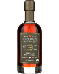CROWN MAPLE: Bourbon Barrel Aged Maple Syrup, 8.5 fo