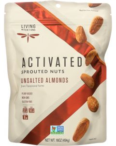 LIVING INTENTIONS: Sprouted Almonds Unsalted, 16 oz
