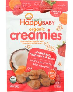 HAPPY BABY: Creamies Strawberry Raspberry and Carrot, 1 oz