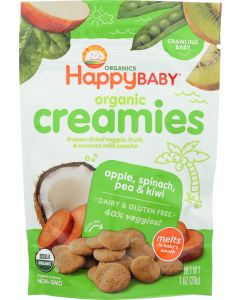 HAPPY BABY: Creamies Apple Spinach Pea and Kiwi, 1 oz