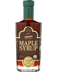 THE MAPLE GUILD: Organic Cinnamon Stick Infused Vermont Syrup, 12.7 oz