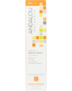 ANDALOU NATURALS: Beauty Balm Sheer Tint with SPF 30 Brightening, 2 Oz
