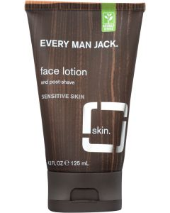 Every Man Jack Face Lotion and Post-Shave Fragrance Free, 4.2 Oz