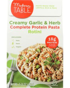MODERN TABLE: Pasta Protein Creamy Garlic and Herb Meal Kit, 9.74 oz