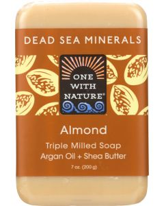 ONE WITH NATURE: Almond Dead Sea Minerals Soap Bar, 7 oz