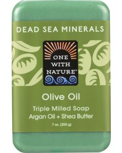 ONE WITH NATURE: Olive with Dead Sea Minerals Soap Bar, 7 oz