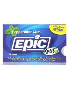 Epic Dental Peppermint Xylitol Gum, 12 Pc