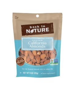 BACK TO NATURE: California Almonds Sea Salted Roasted, 9 oz