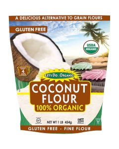 LETS DO ORGANICS: 100% Organic Coconut Flour, 16 oz