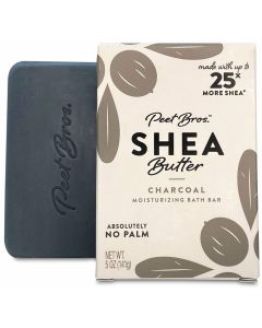 PEET BROS: Shea Butter Charcoal Soap, 5 oz