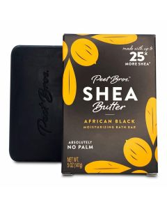 PEET BROS: Shea Butter African Black Soap, 5 oz