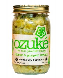 OZUKE: Citrus and Ginger Kraut, 15 oz