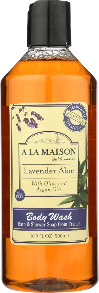 A LA MAISON: Lavender Aloe Body Wash, 16.9 fl oz