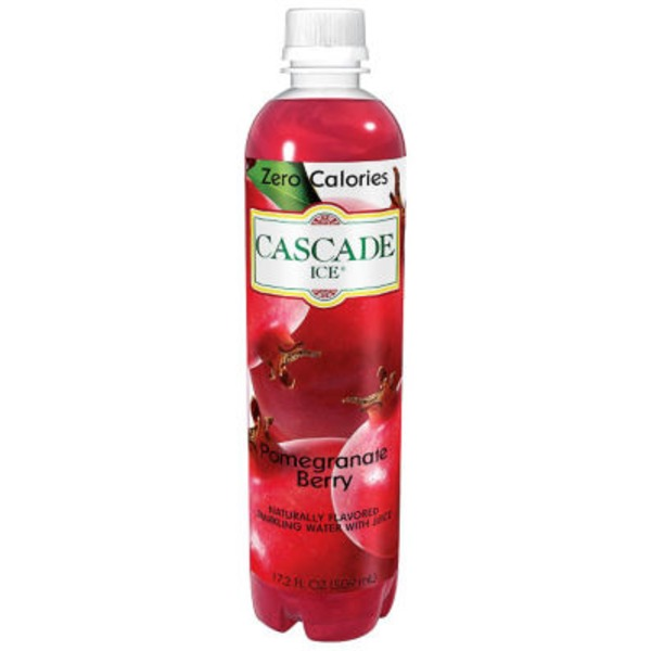 CASCADE ICE: Zero Calories Sparkling Water Pomegranate Berry, 17.2 fl oz