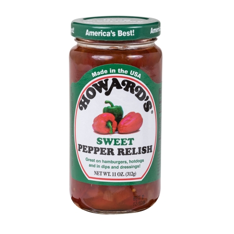 HOWARDS: Relish Sweet Pepper, 11 oz