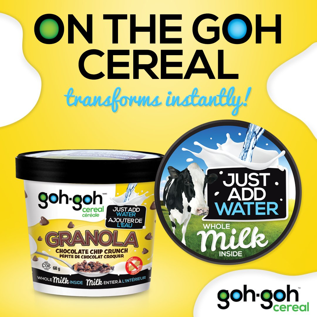 GOH GOH CEREAL: Cereal Cups Chocolate Chip Crunch, 68 gm