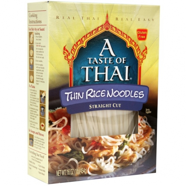 A TASTE OF THAI: Thin Rice Noodles, 16 Oz