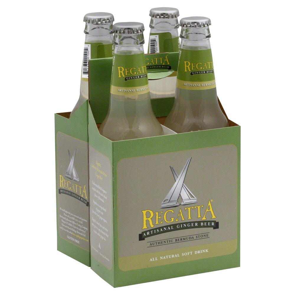 REGATTA: Ginger Beer Soda 4 Pack, 33.8 fl oz