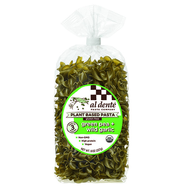 AL DENTE: Green Pea Wild Garlic Plant Based Pasta, 8 oz