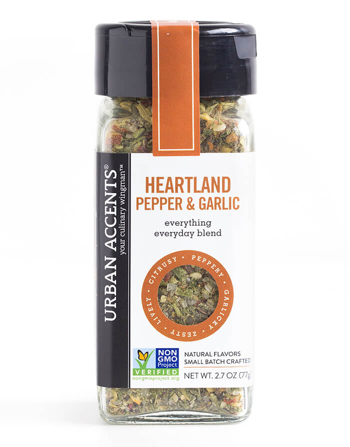 URBAN ACCENTS: Heartland Pepper & Garlic Seasoning, 2.7 oz