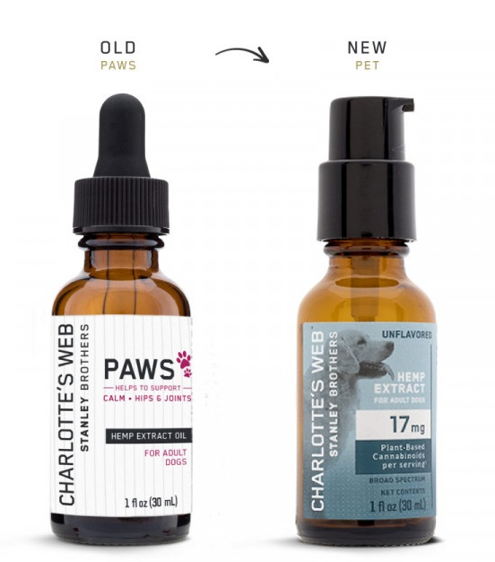 CHARLOTTES WEB: Hemp Extract for Adult Dogs Unflavored, 1 oz