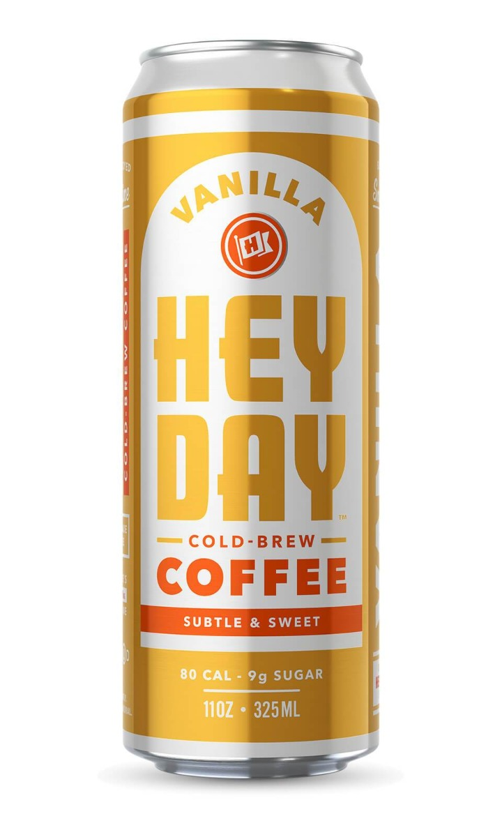 HEYDAY COLD BREW: Cold Brew Vanilla Coffee, 11 oz