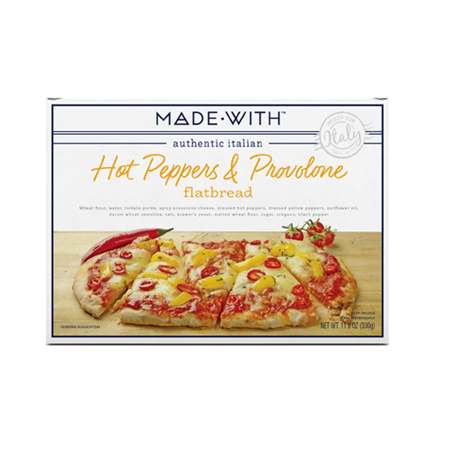 MADE WITH: Hot Pepper & Provolone Flatbread, 11.6 oz