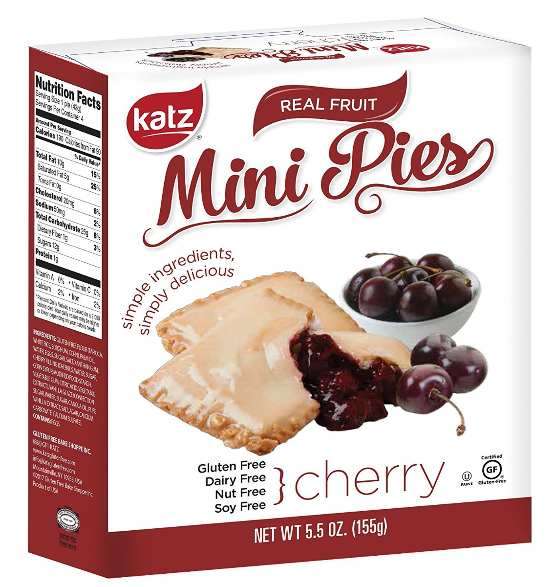 KATZ: Cherry Mini Pies, 5.5 oz