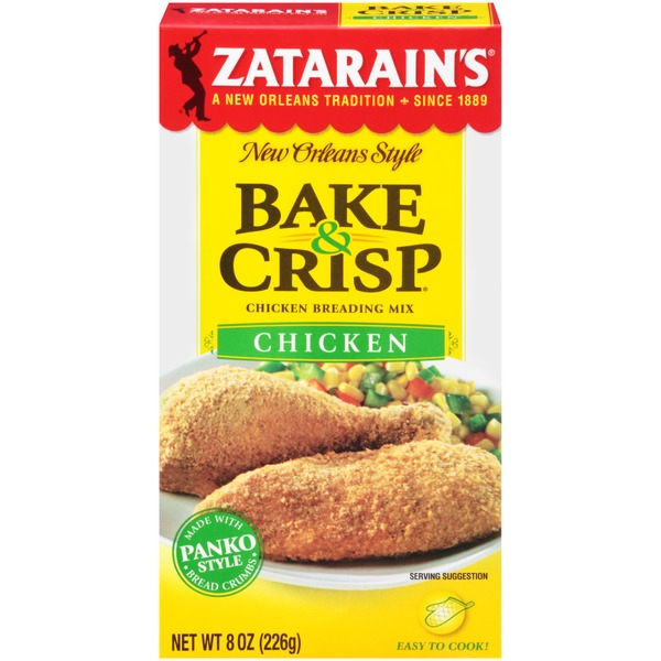 ZATARAINS: Breading Chicken Bake & Crisps, 8 oz