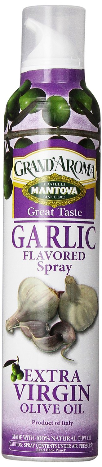 MANTOVA: Extra Virgin Olive Oil Garlic Flavored Spray, 8 oz