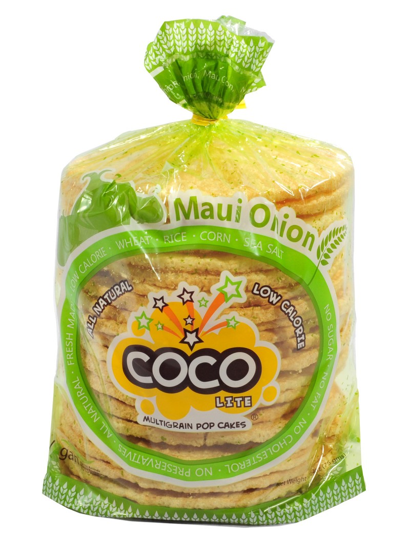 COCO LITE: Maui Onion Multigrain Pop Cakes, 2.64 oz