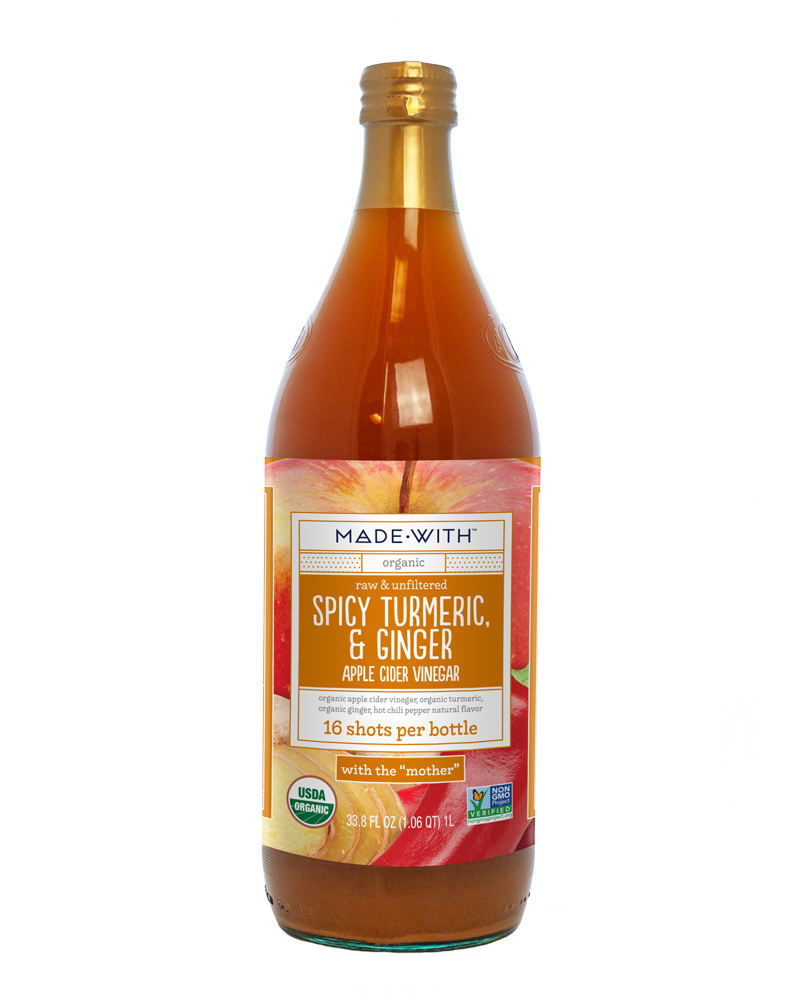 MADE WITH: Spicy Turmeric Ginger Apple Cider Vinegar Organic, 33.8 fl oz