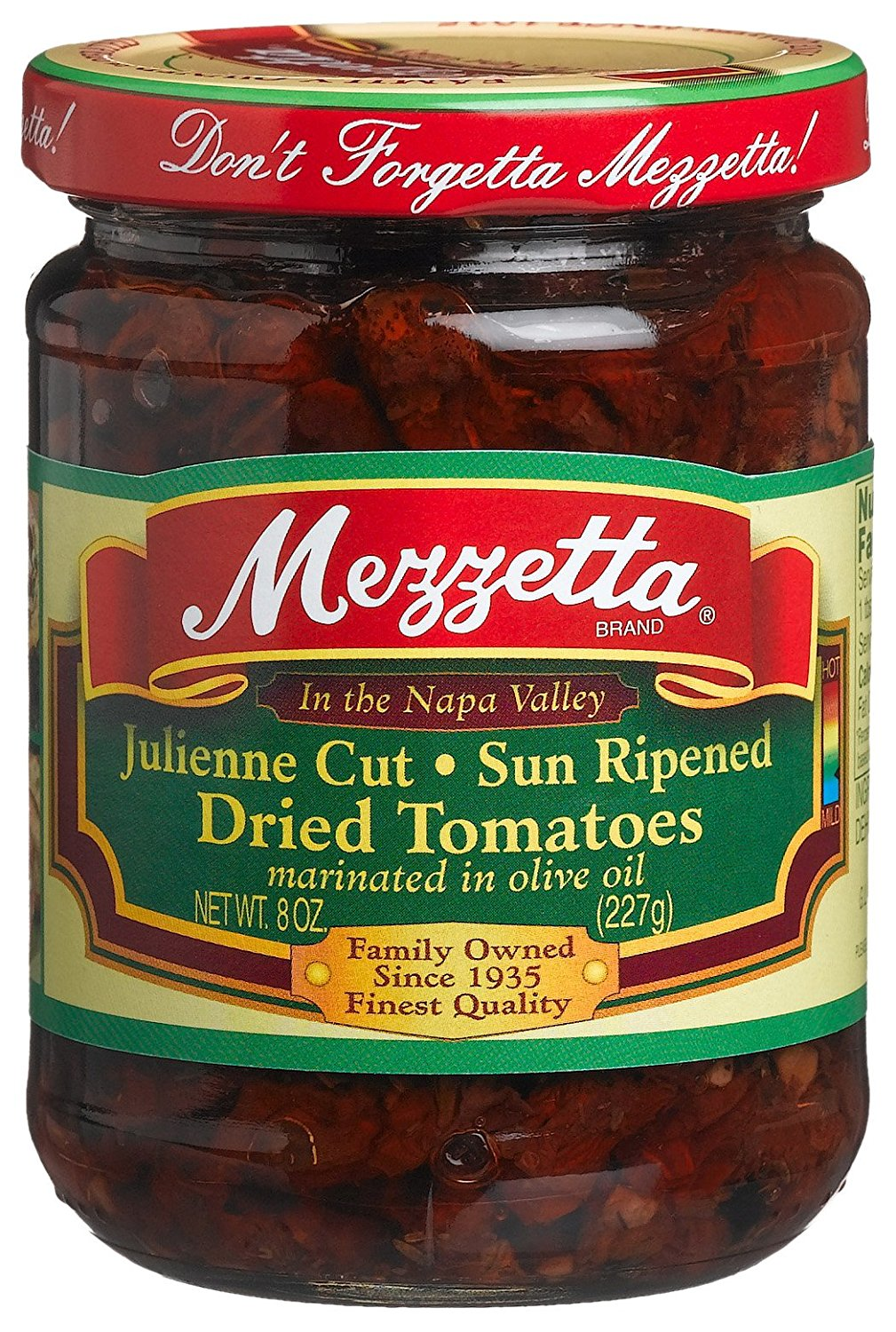 MEZZETTA: Juliene Cut Sun-Ripened Dried Tomatoes, 8 Oz