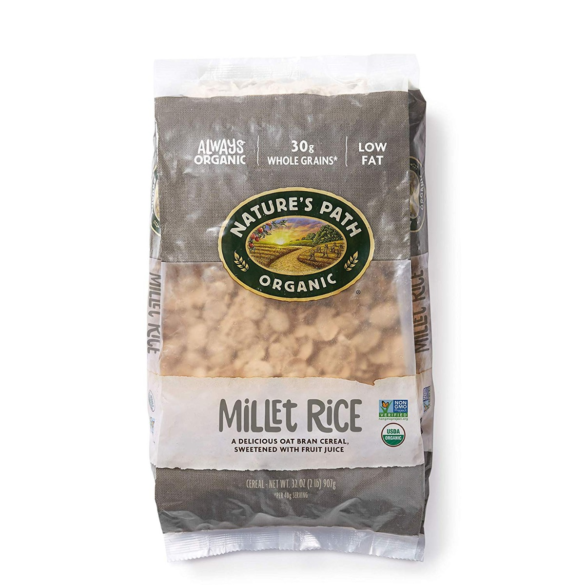 NATURES PATH: Millet Rice Flakes Cereal, 32 oz