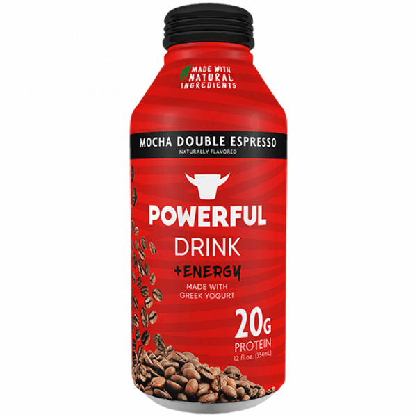POWERFUL: Powerful Drink Greek Yogurt Mocha Espresso, 12 fo
