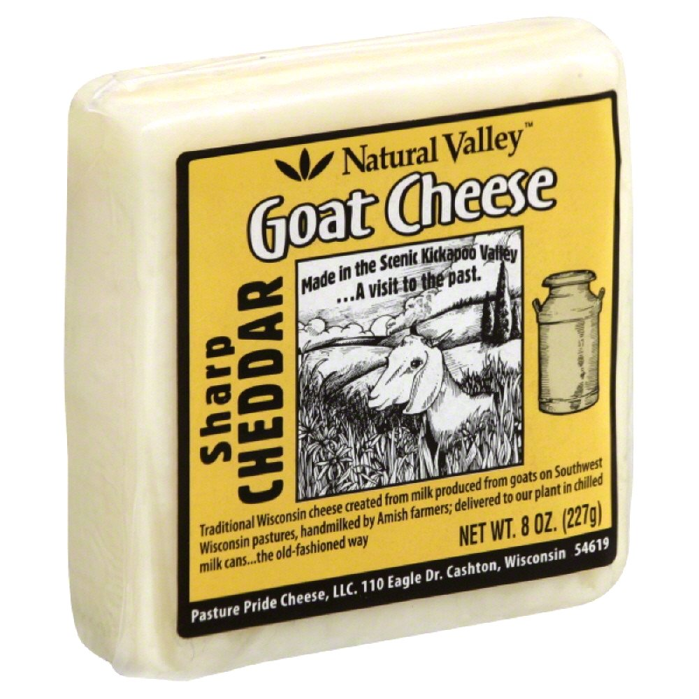 NATURAL VALLEY: Goat Cheese Sharp Cheddar, 8 oz