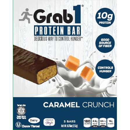 GRAB 1: Caramel Crunch Bar 5ct, 47 gm