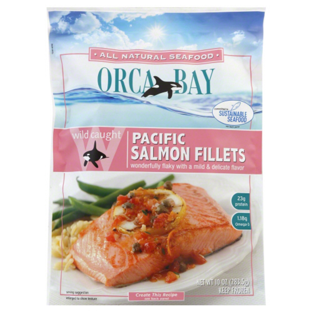 ORCA BAY: Wild Caught Pacific Salmon Fillets, 10 oz