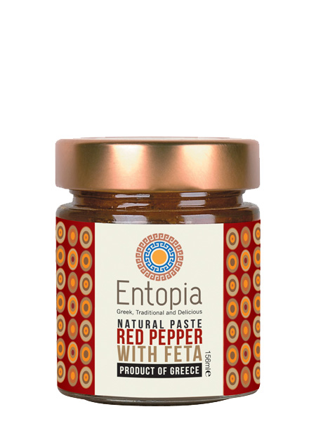 ENTOPIA: Paste Red Pepper With Feta Cheese, 5.3 fo