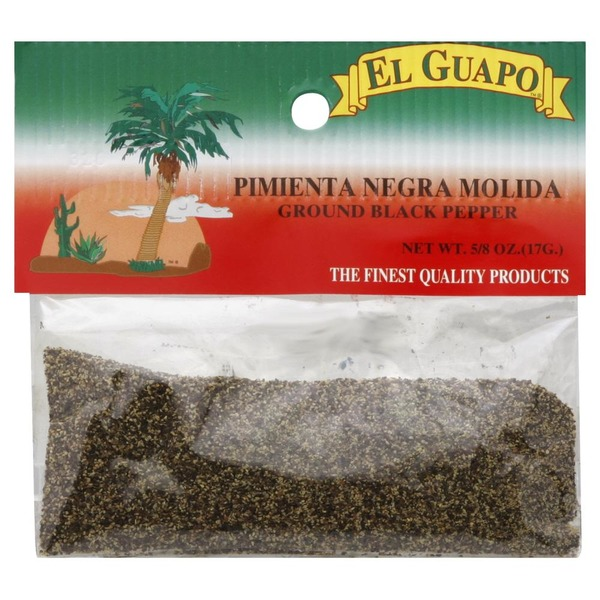 EL GUAPO: Ground Black Pepper, 0.63 oz