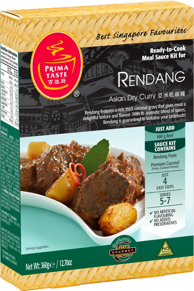 PRIMA TASTE: Rendang Dry Asian Curry, 12.7 oz