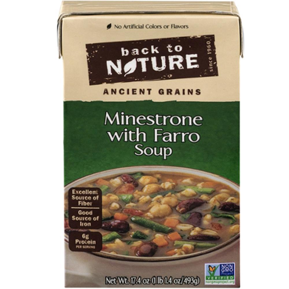 BACK TO NATURE: Minestrone With Farro Soup, 17.4 oz