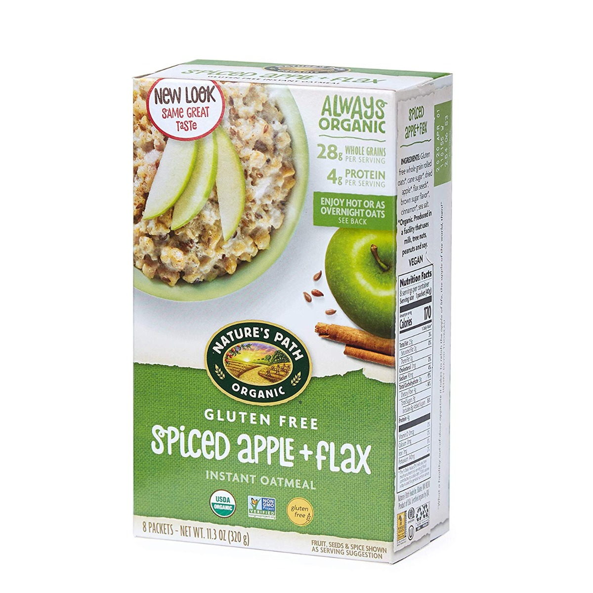 NATURES PATH: Gluten Free Spiced Apple with Flax Oatmeal, 11.3 oz