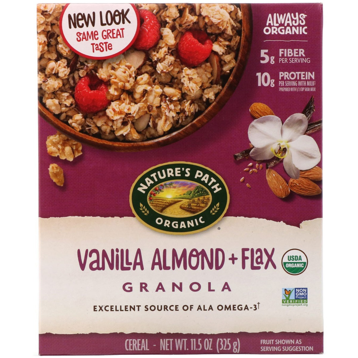 NATURES PATH: Vanilla Almond Plus Flax Granola, 11.5 oz
